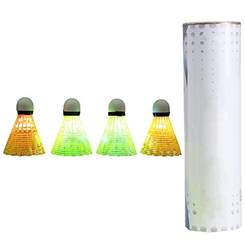 ACAREY 4 pezzi luci LED per badminton Shuttlecock Birdies colorate in nylon Light Up Palline Glow Birdies per yard outdoor, attività sportive