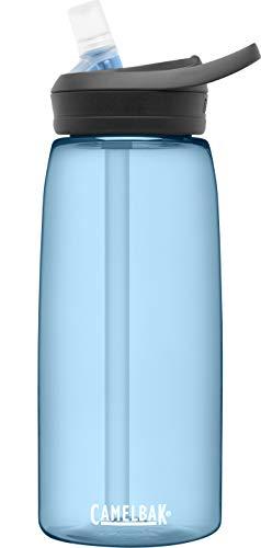 CamelBak eddy+ Water Bottle with Tritan Renew – Straw Top 32oz, True Blue