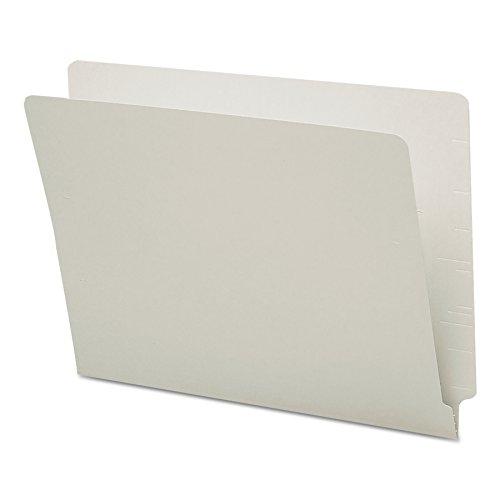 Smead End Tab File Folder, Shelf-Master Reinforced Straight-Cut Tab, Letter Size, Gray, 100 per Box (25310)