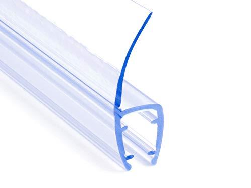 DQ-PP Duschdichtung 200cm | Dichtung für 3,5mm – 5mm Glastür Stärke | UK04 | Wasserablaufprofil Wasserabweisprofil | Duschkabinen Duschabdichtung Duschwand | Ersatzteile für Duschkabine | Transparent