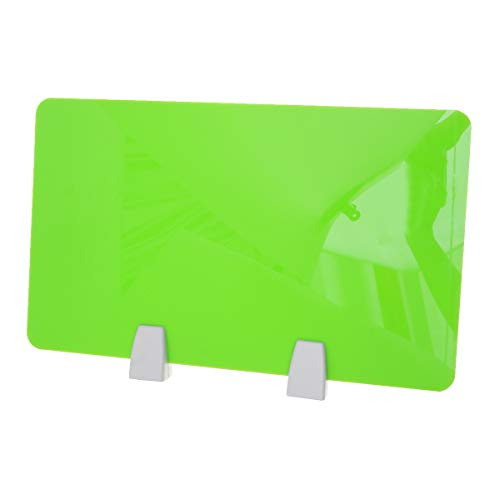 NUOBESTY Büro Desktop Schallwand Tisch Separator Acryl Screen Board Desktop Trennwand mit Klemme 50x30 cm