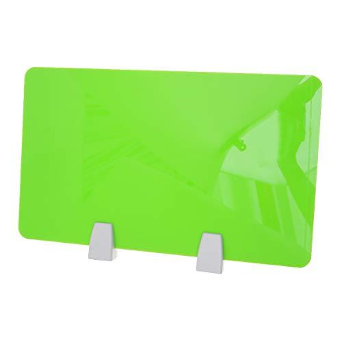 Nuobesty Office Desktop Separador para mesa Deflector Panel para partición de acrílico Panel para partición para escritorio con abrazadera 50 x 30 cm (verde), color verde 50x30cm