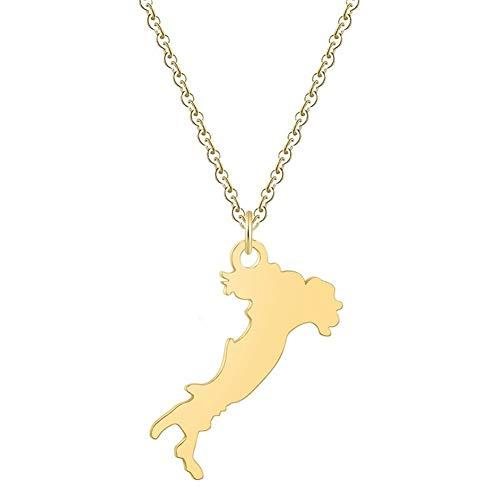 Cadena de moda Hummingbird Animal Swallow colgante, collar geométrico vuelo del pájaro de Origami regalos de la joyería collar de cumpleaños Collares ( Color : Gold color , Metal Color : STYLE 15 )