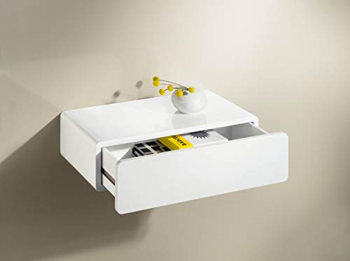 Gloss White CASSY Drawer Shelf 500x250x130mm