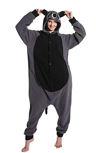 dressfan Unisex Adulto Animal Pijamas Mapache Cosplay Disfraz Animal Disfraz Niño