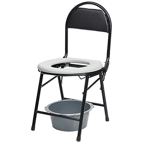 N&O Renovation House Medizinische Nachtkommoden Schwerlast-Nacht-Toilettenstuhl Tragbarer Toilettensitz mit abnehmbarem gepolstertem Sitz und Töpfchen für ältere Menschen mit Behinderungen