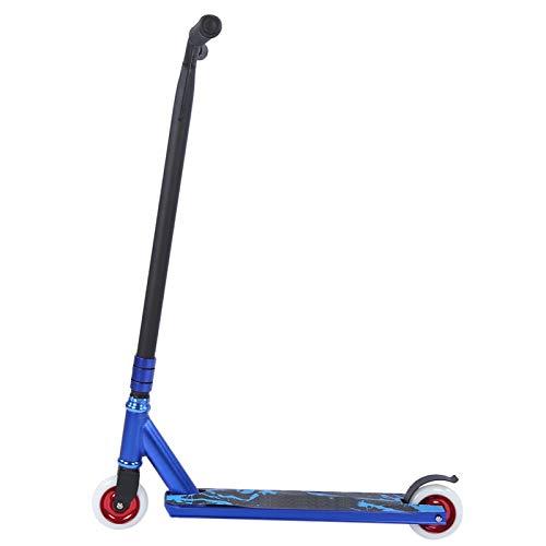SALUTUYA Scooter Adulto Prueba de Agua Azul Profesional, con Rueda de núcleo de Aluminio