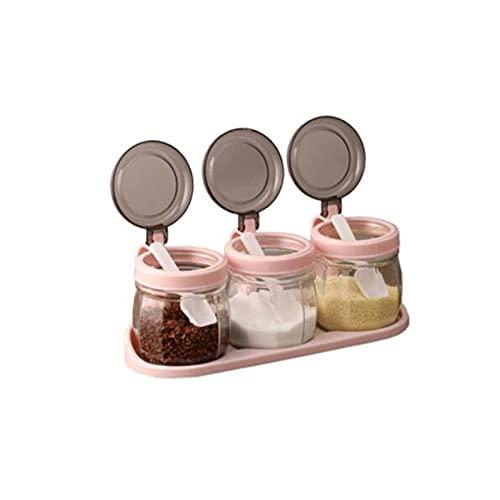 Spice Box Creature Container,Glas Gemaakt,Geschikt voor Keuken.Product Maat:8.4cm*10.2cm,3 stuks Kruiden potten WSYGHP