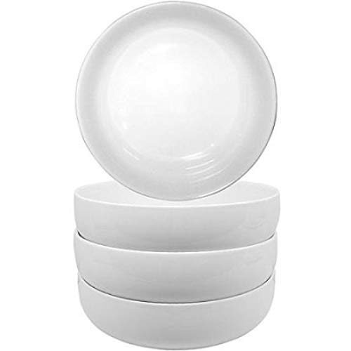 Better Homes and Gardens Set of 4 Porcelain Round White Coupe Bowls
