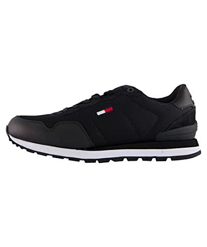 Tommy Hilfiger Herren Tommy Jeans Lifestyle Mix Runner Sneaker, Schwarz, 43 EU
