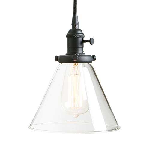 Vintage Pendant Light with Clear Glass Shade