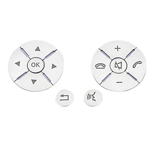 Naliovker Auto Innen Lenkrad Knopf Schalter Ordnung Abdeckung Aufkleber für Mercedes CES Klasse W204 W212 W221 GLK X204 C200 C250
