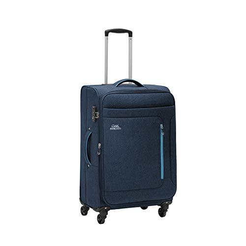 Ciak Roncato Trolley Grande da Viaggio in Poliestere Serie Focus, Molto Capiente e Comodo, Colore Blu Navy Melangiato 2 Toni