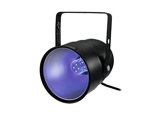 Eurolite UV-Strahler mit UV LED 5W | Kompakter UV-Strahler mit E-27 Sockel inklusive 5 W-UV-LED | Schwarzlicht für Ihre Party