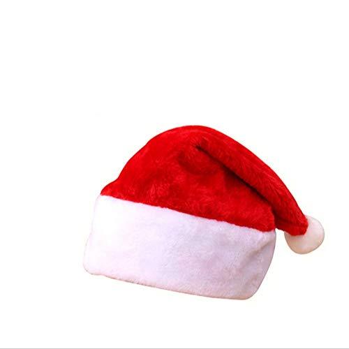 markcur Gorro de Navidad Papá Noel Gorras Gorro De Papá Noel Navidad Papá Noel Invierno Gorro Para Xmas rojo-1