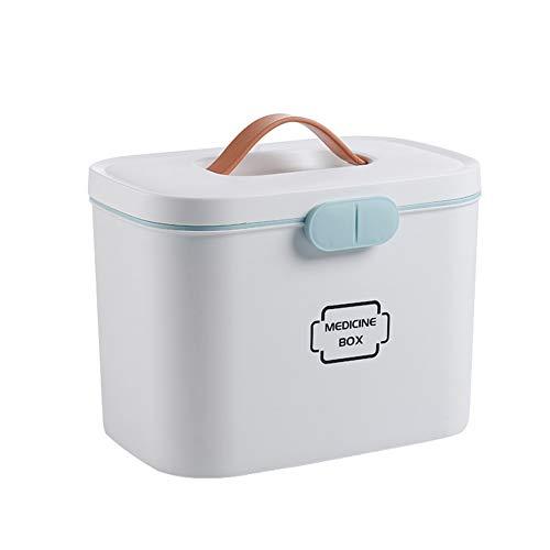Caja De Almacenamiento para Medicamentos Caja De Almacenamiento De Medicamentos En Capas para El Medicamento En El Hogar FSZ Botiqu/ín De Primeros Auxilios Rosa
