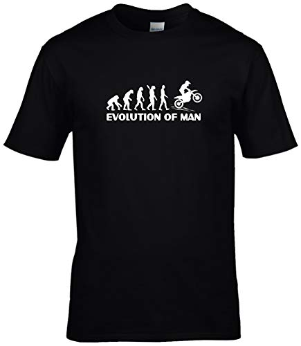 BlingelingShirts Evolution of Man Motocross T-shirt met motorfiets