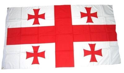 Fahne / Flagge Georgien NEU 90 x 150 cm Flaggen Fahnen