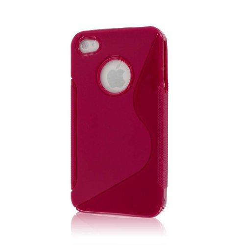 MPERO Flex S Series Schutz Case Tasche Hülle for Apple iPhone 4 / 4S - Hot Pink Rosa