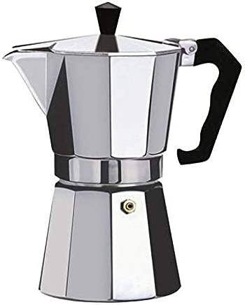 Cumturming Coffee Maker Aluminum Mocha Espresso Percolator Pot Coffee Maker Moka Pot,Silver