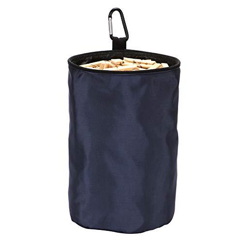 VEAMOR Clothespins Bag Hanging Clothesline Peg Organizer Storage BagsDust-Proof Navy Blue