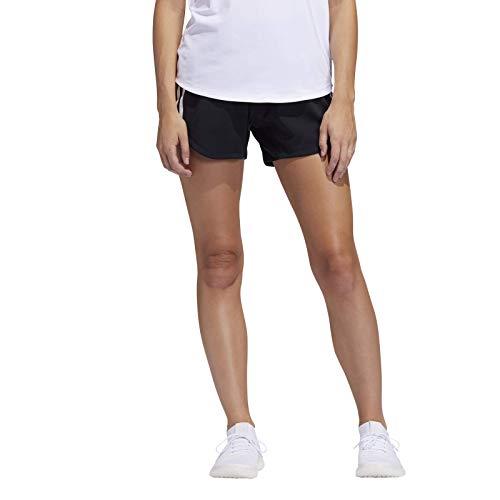 adidas 3S Wvn Gym Shrt Pantaloncini Sportivi, Donna, Black/Black, M