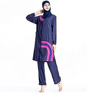Muslim Swimsuits Plus Size, Islamic arabic Swimwear Burkini Hijab Beachwear with Cap,XL