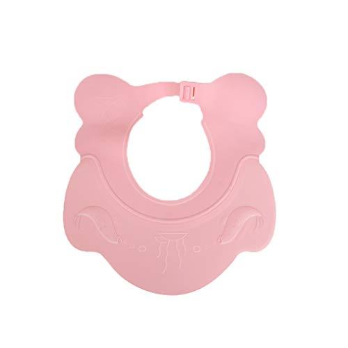 Bébé Shampooing Cap Étanche Protection des Oreilles Enfant Bonnet De Douche Enfant Bain Artifact Infantile Silicone Réglable (Couleur : Pink)