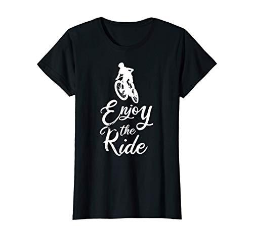 Woman mountain bike bicycle biker cycling mtb mountain T-Shirt