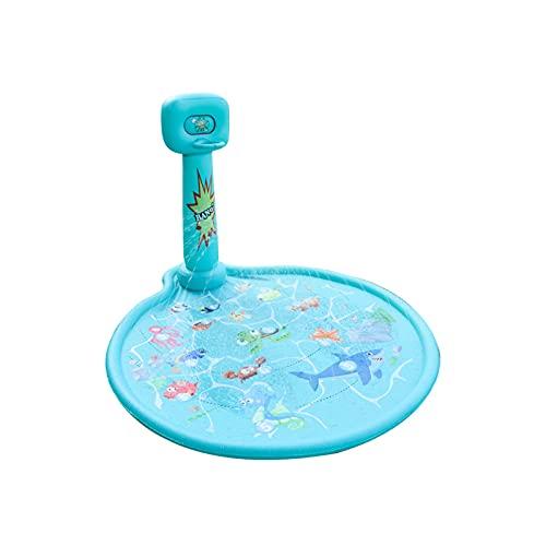 JLJLJL Splash Pad para niños, Estera de rociadores con aro de Baloncesto al Aire Libre para Baloncesto Piscina para bebés inflables 2-12 años niñas niñas niños pequeños