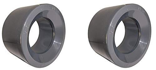 well2wellness® PVC - reductie kort - 63 mm x 50 mm (200157) - 2 stuks