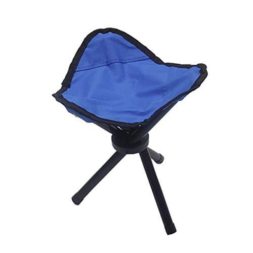 MLXZDY MLX Klapphocker, Dreieckiger Klapphocker, Bequemer Hocker Mit DREI Beinen (Farbe : Blau)