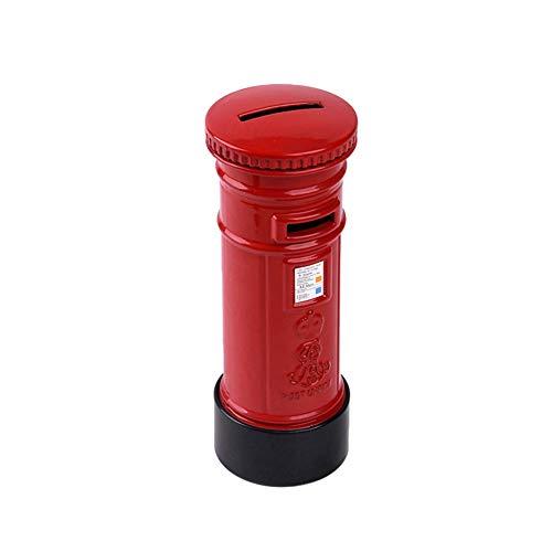 Spardose Kinder Rot aus Zinklegierung Briefkasten Spardose 15,5 * 5,5cm Rot 1 Stück
