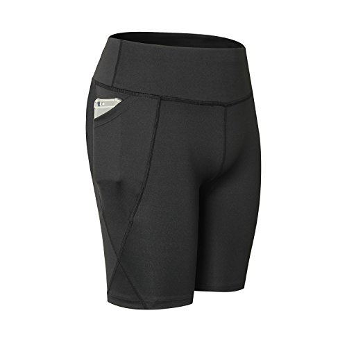 Qutool Leggings für Damen, hohe Taille, Sporthose, Yoga-Leggings, Workout-Hose, Laufhose, Damen, 3black, Größe S