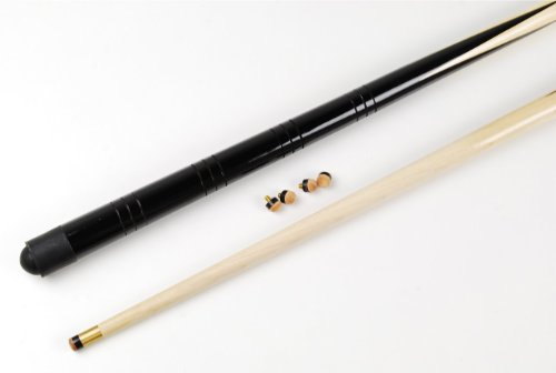 2 small 36 inch pool /snooker cues & 4 x 11mm screw on cue tips