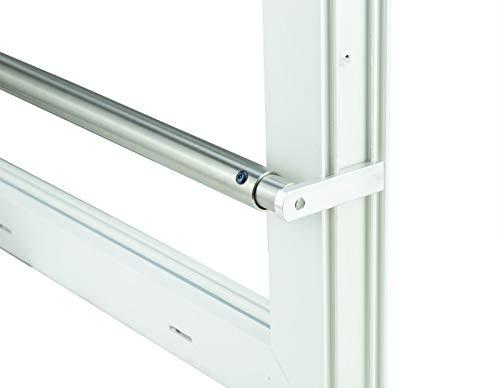 Kellerfenster weiss 60 x 50 Isolierverglasung mit Komplett Set Sicherheitsstange und Montagematerial