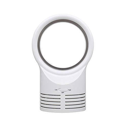 MXT-RM Luchtcirculatie vanloos tafelventilator, draagbare en veilige tafelventilator, 2 snelheidswind stille handventilator, geschikt voor huis/buiten/kantoor