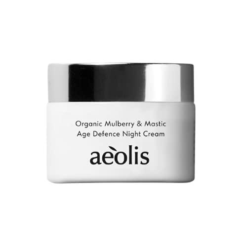 AEOLIS Skincare   Age Defence Night Face Cream   Gesichtscreme   Nachtcreme   Hochwirksame Peptide   Mit Bio-Maulbeerblättern & Mastix   100% natürlich & nachhaltig   Ohne...