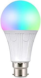FEDBNET Bombilla WiFi inteligente, 10 W, multicolor, compatible con Alexa, Google Home e IFTTT, control remoto, no requier...