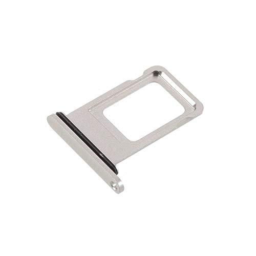 jbTec Dual SIM-Tray Karten-Halter passend für Apple iPhone 12 Pro/Pro Max - Slot Schlitten Card Kartenhalter Karte Rahmen Simkarten Holder Fach, Farbe:Silber