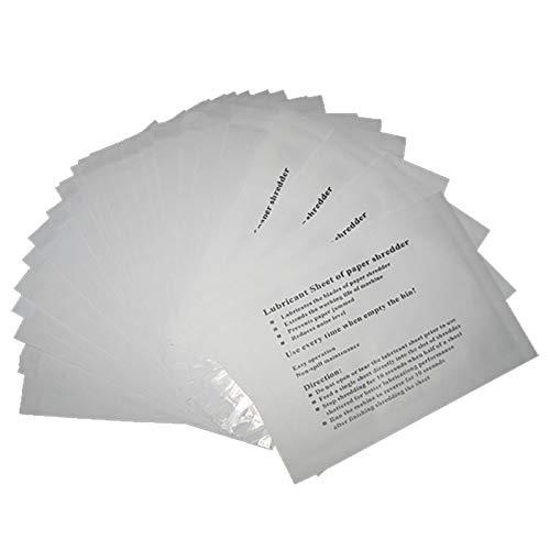 VANRA Ölpapier für Aktenvernichter,Shredder-Schmierblätter Shredder-Zubehör (Ölblätter für alle Shredder-Typen) Packung mit 12 Stück