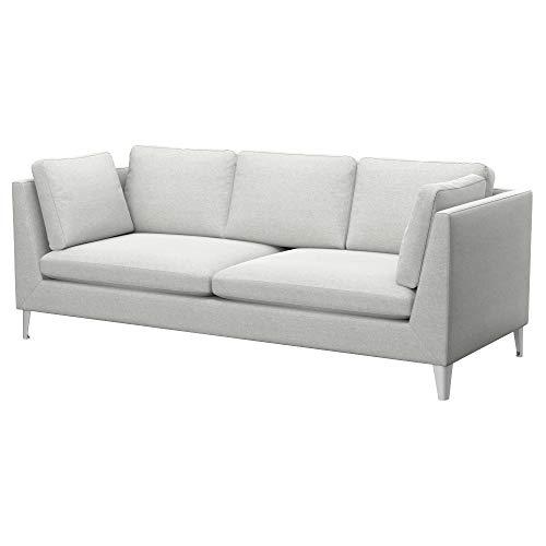 Soferia Bezug fur IKEA Stockholm 3er-Sofa, Stoff Classic Creme
