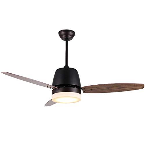 Luz del ventilador Ventilador de Techo Ventilador Ventilador de salón (Color : Wall Control)