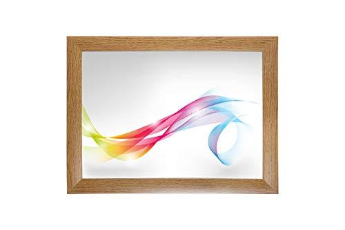 FRAMO 35 mm Bilderrahmen für 24 x 32 cm Bilder, Farbe: Eiche Rustikal, maßgefertigter MDF Rahmen mit Anti-Reflex Kunstglasscheibe, Rahmen Breite: 35 mm, Außenmaß: 29,8 x 37,8 cm