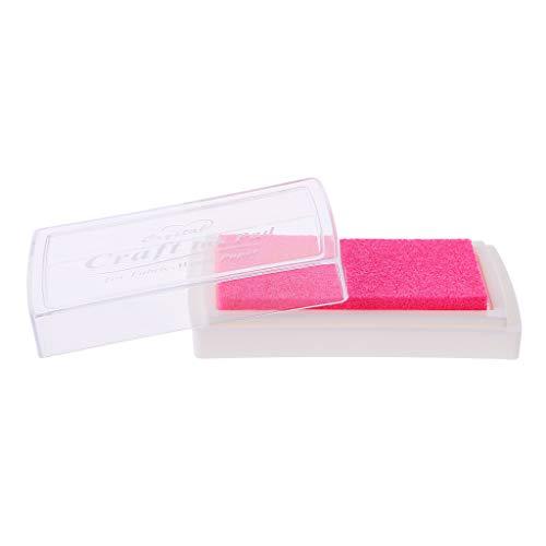 Almohadilla de tinta de aceite colorida, sello de goma para manualidades, álbum de recortes, decoración arcoíris rosa