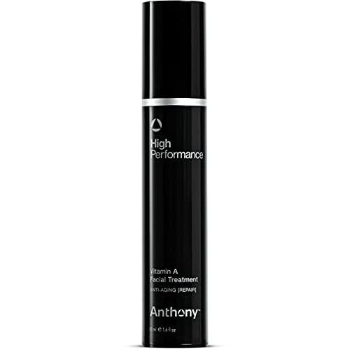 Anthony Retinol Cream for Face: High Performance Retinol Anti Wrinkle Face Cream – Anti Aging Facial Treatment Moisturizer; Vitamin A, Shea Butter & Squalane, Preserves Youthful Skin 1.6 Fl Oz
