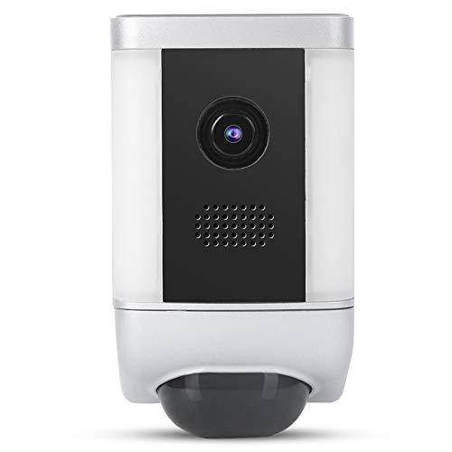 Cámara WiFi de visión nocturna por infrarrojos 1080P IP55 Cámara de vigilancia remota a prueba de agua Detección de movimiento Alarma acústica óptica Cámara de seguridad(EU)