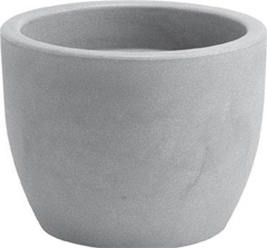 Blumentopf / Pflanztopf Hera, Ø 40, Höhe 30 cm, aschgrau, matt, 32 l Inhalt, für Innen und Außen, aus hochwertigem Polyethylen