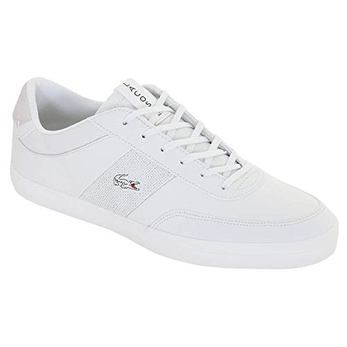 Lacoste Heren Court-Master 120 2 CMA lederen sneakers, Wit