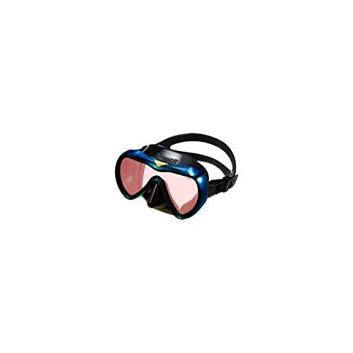 Gafas de buceo profundas, máscara de buceo para adultos (color: azul real)